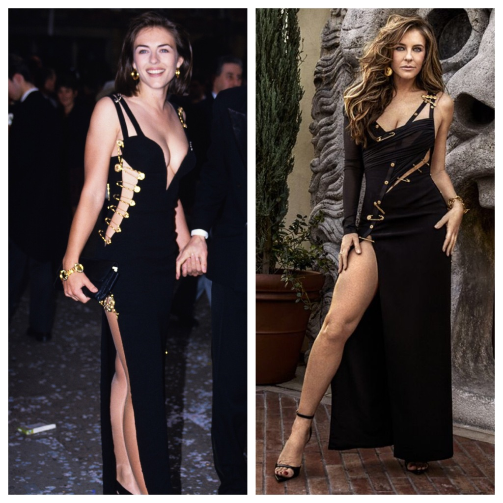 Elizabeth Hurley Versace Safety Pin Dress