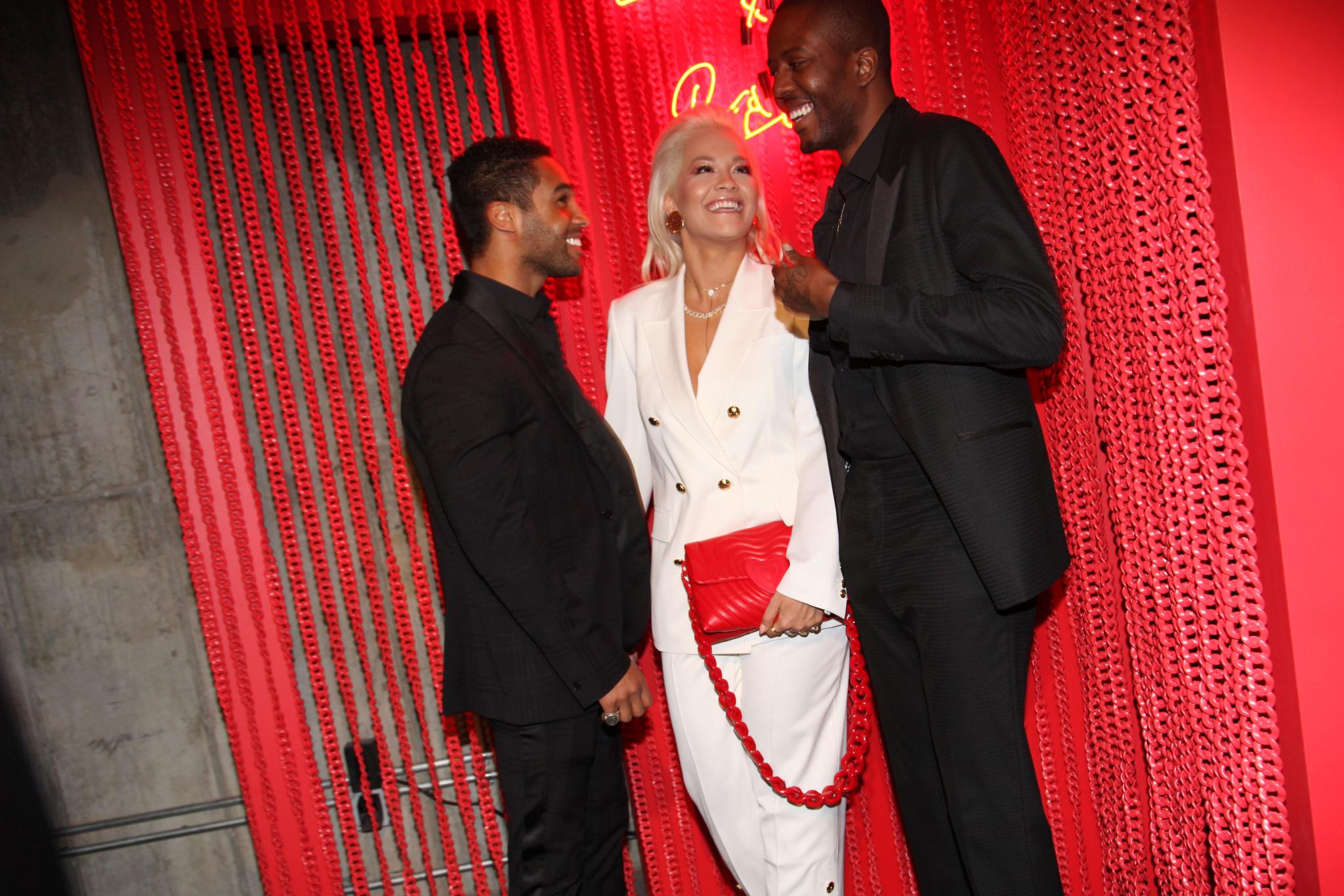 Lucian Laviscount, Rita Ora and Vas J MorganEscada dinner celebrating the launch of the new Heart Bag by Rita Ora, New York, USA - 27 Mar 2019
