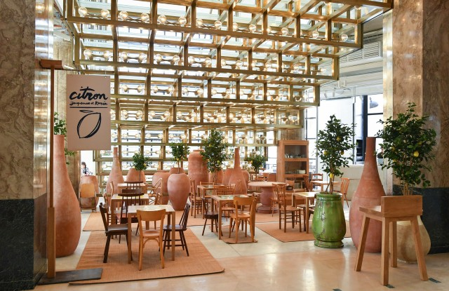The Citron café designed by Simon Porte Jacquemus with Caviar Kaspia.