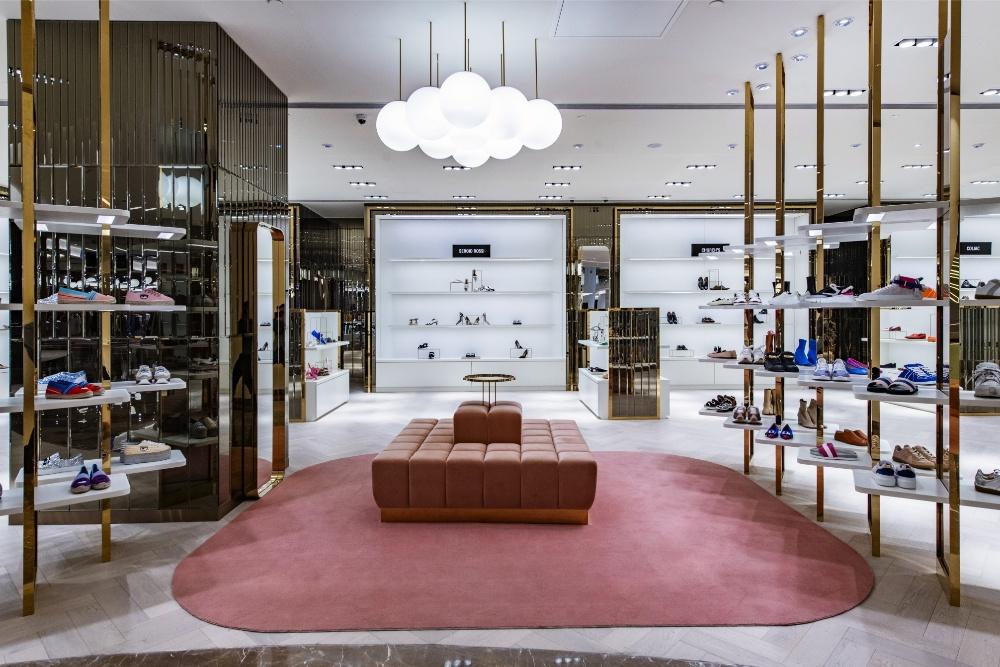 The shoe floor at Galeries Lafayette Shanghai.