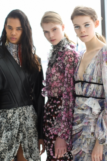 Backstage at Giambattista Valli RTW Fall 2019, photographed in Paris on March 4, 2019.