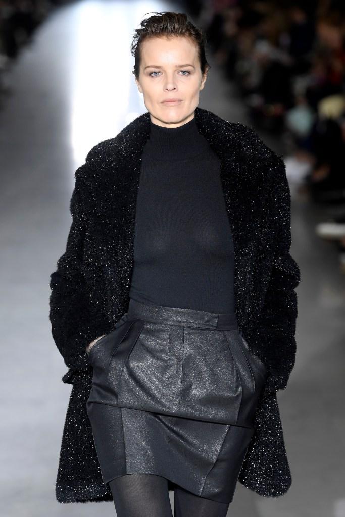 Eva Herzigova on the catwalk