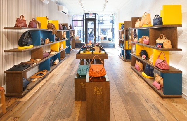 Il Bisonte's Bleecker Street flagship offers leather care services.