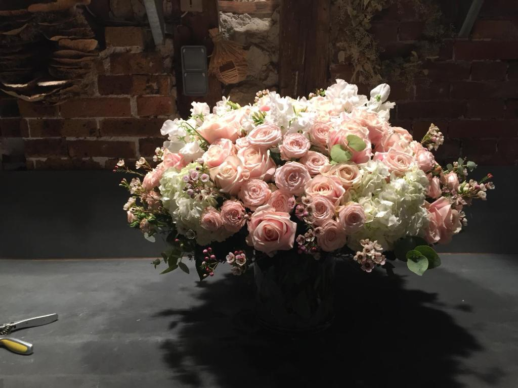 Flowers by Eric Chauvin, who counts Dior, Saint Laurent and Givenchy amongst his clients