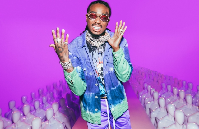 Quavo in a look from his BoohooMAN collection.