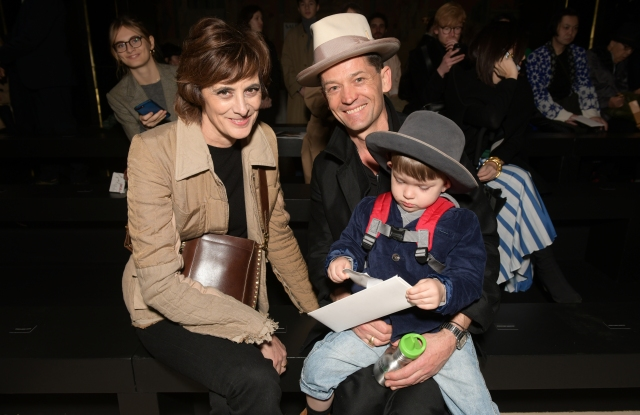 Inès de la Fressange, Daniel de la Falaise and his son Louis