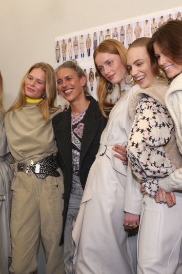 Backstage at Isabel Marant RTW Fall 2019, photographed in Paris on February 28, 2019.