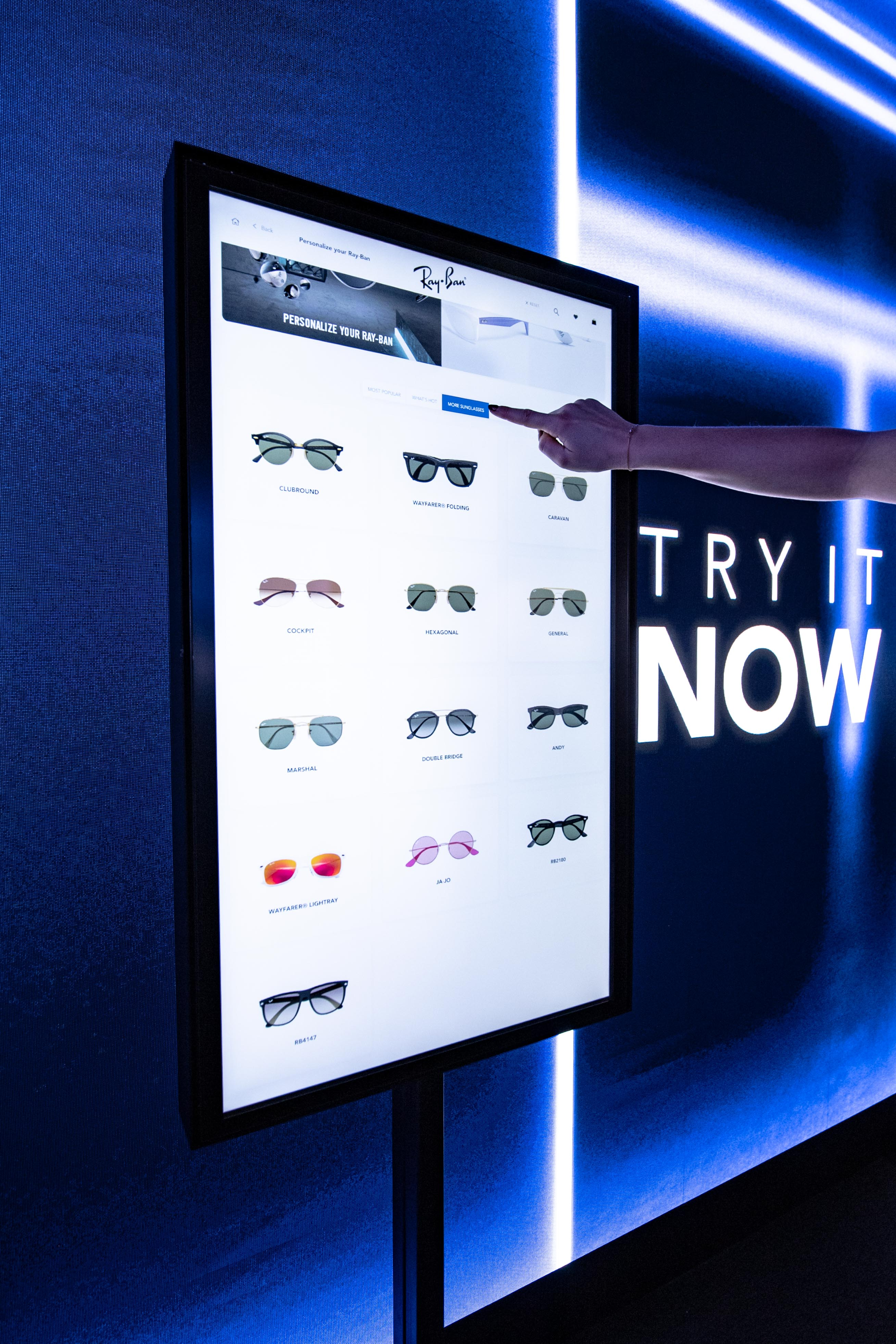 Luxottica in-store digital tool.