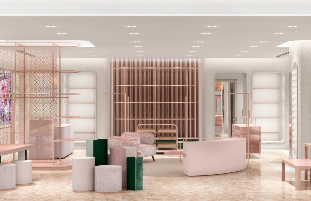 A view of the new Kate Spade New York shop at Hudson Yards.