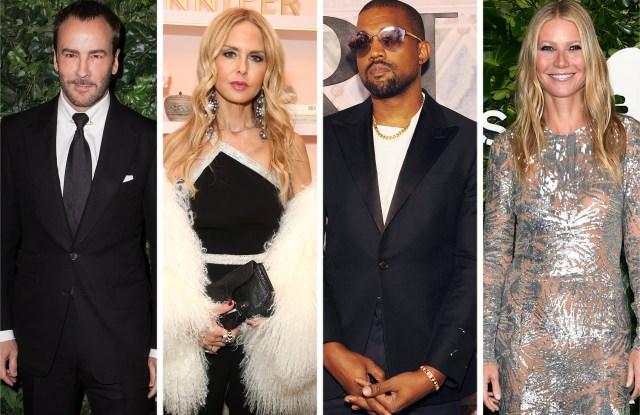 Tom Ford, Rachel Zoe, Kanye West, and Gwyneth Paltrow