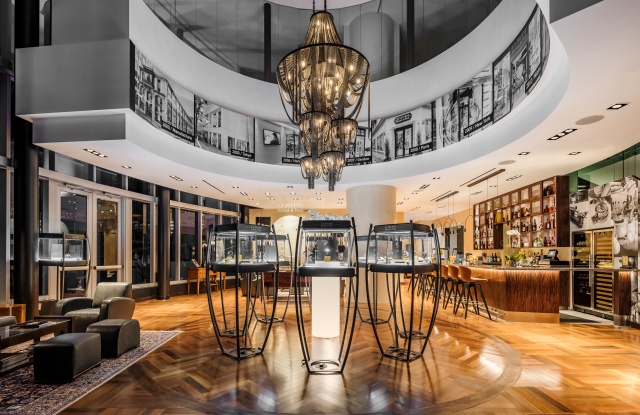 A view of the new Maison F.P. Journe in Miami.