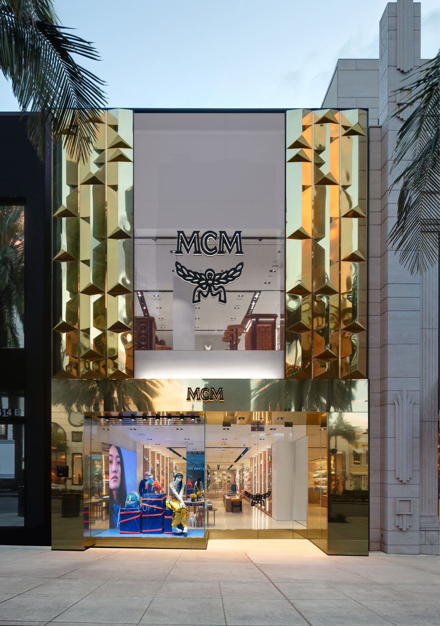The MCM Beverly Hills flagship store on Rodeo Drive.