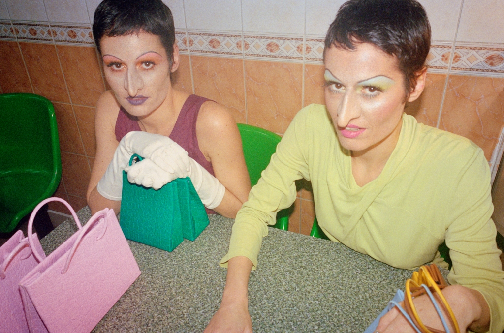 The Medea Sisters fall campaign created in collaboration with artist Isamaya Ffrench