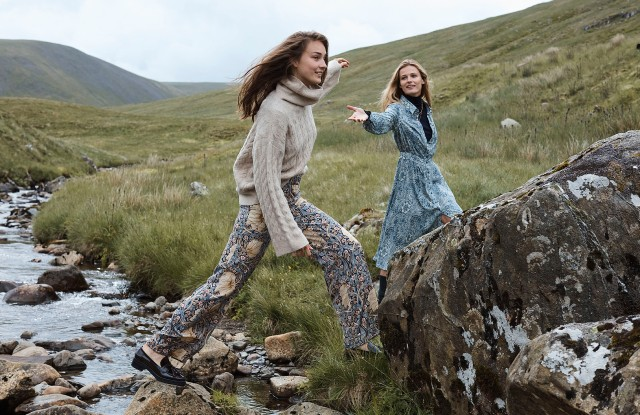 A campaign image from the Morris & Co. and H&M 2018 clothing collaboration.