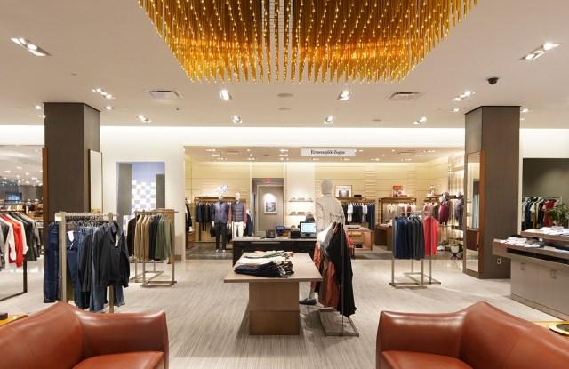 Custom-designed chandeliers for a modern setting.