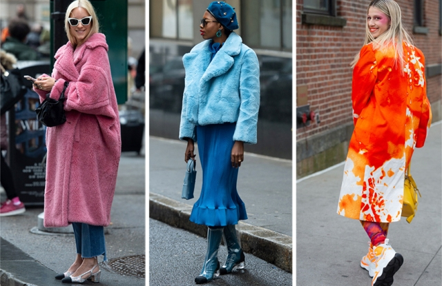 Street Style Trends Fall 2019: Colorful Coats in New York