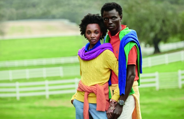 George Okeny and Yanii Gough in the new Ralph Lauren ad campaign.