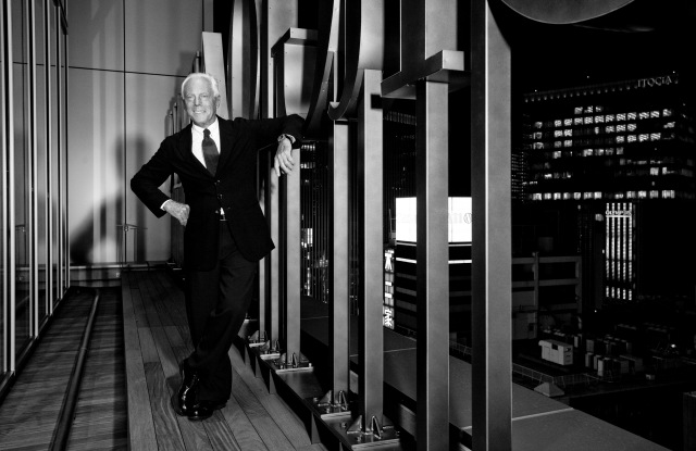 Giorgio Armani in Tokyo in 2007 for his One Night Only event.