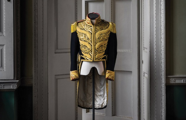 A replica of the military jacket from Michael Jackson's Bad Tour in 1988.