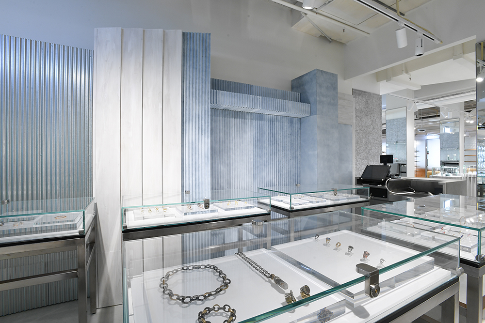 The Dover Street Market jewelry corner at the Galeries Lafayette flagship on the Avenue des Champs-Elysées.