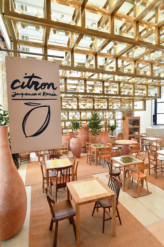The Citron café at the Galeries Lafayette flagship on the Avenue des Champs-Elysées.