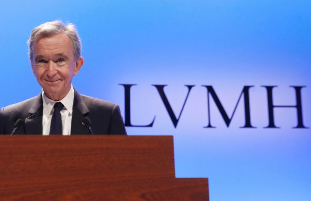 CEO of LVMH Bernard Arnault smiles as he arrives to present the group's 2018 results during a conference in ParisLVMH, Paris, France - 29 Jan 2019