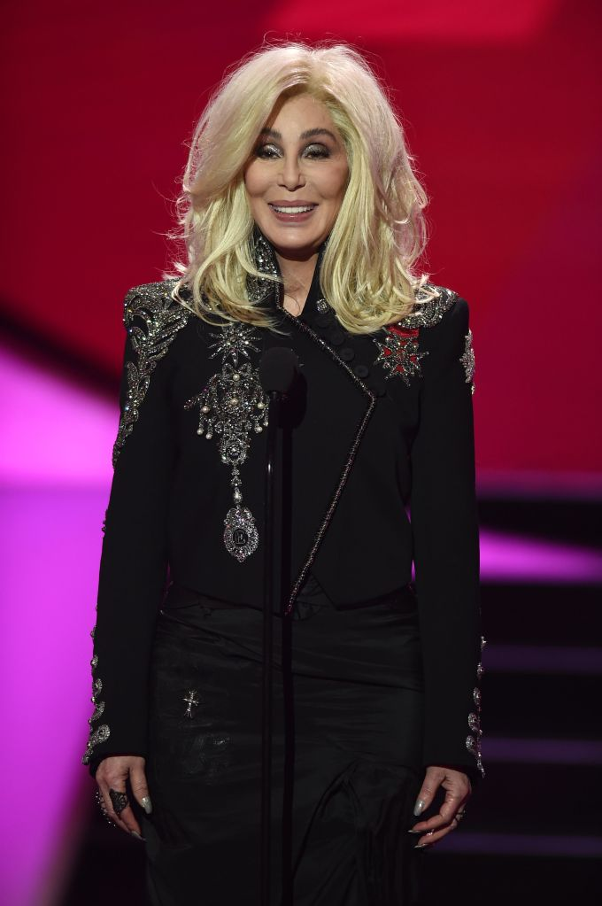 Cher wearing Elizabeth Emanuel's Rock Star Jacket to the VH1 Trailblazer Honors