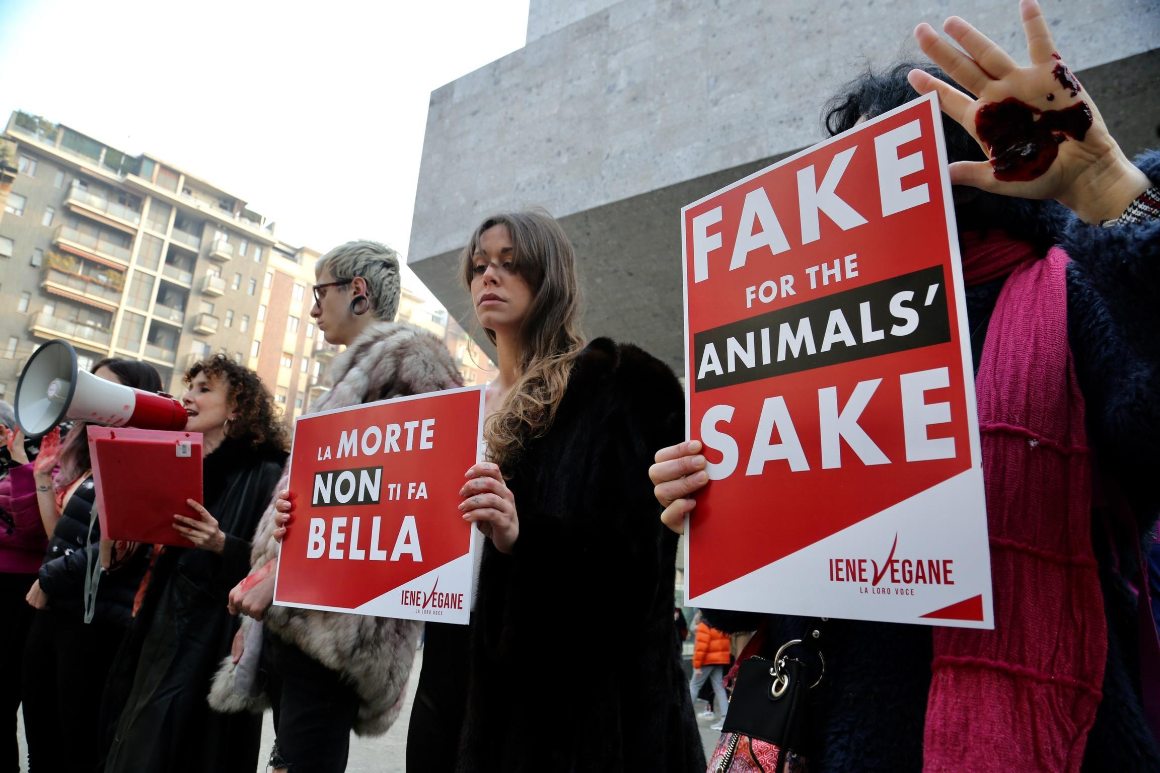 fur protesters