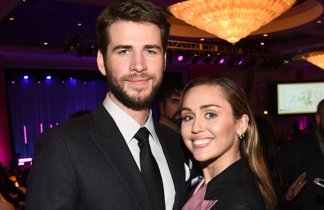 Liam Hemsworth and Miley CyrusThe Women's Cancer Research Fund hosts An Unforgettable Evening, Cocktails, Beverly Wilshire Hotel, Los Angeles, USA - 28 Feb 2019