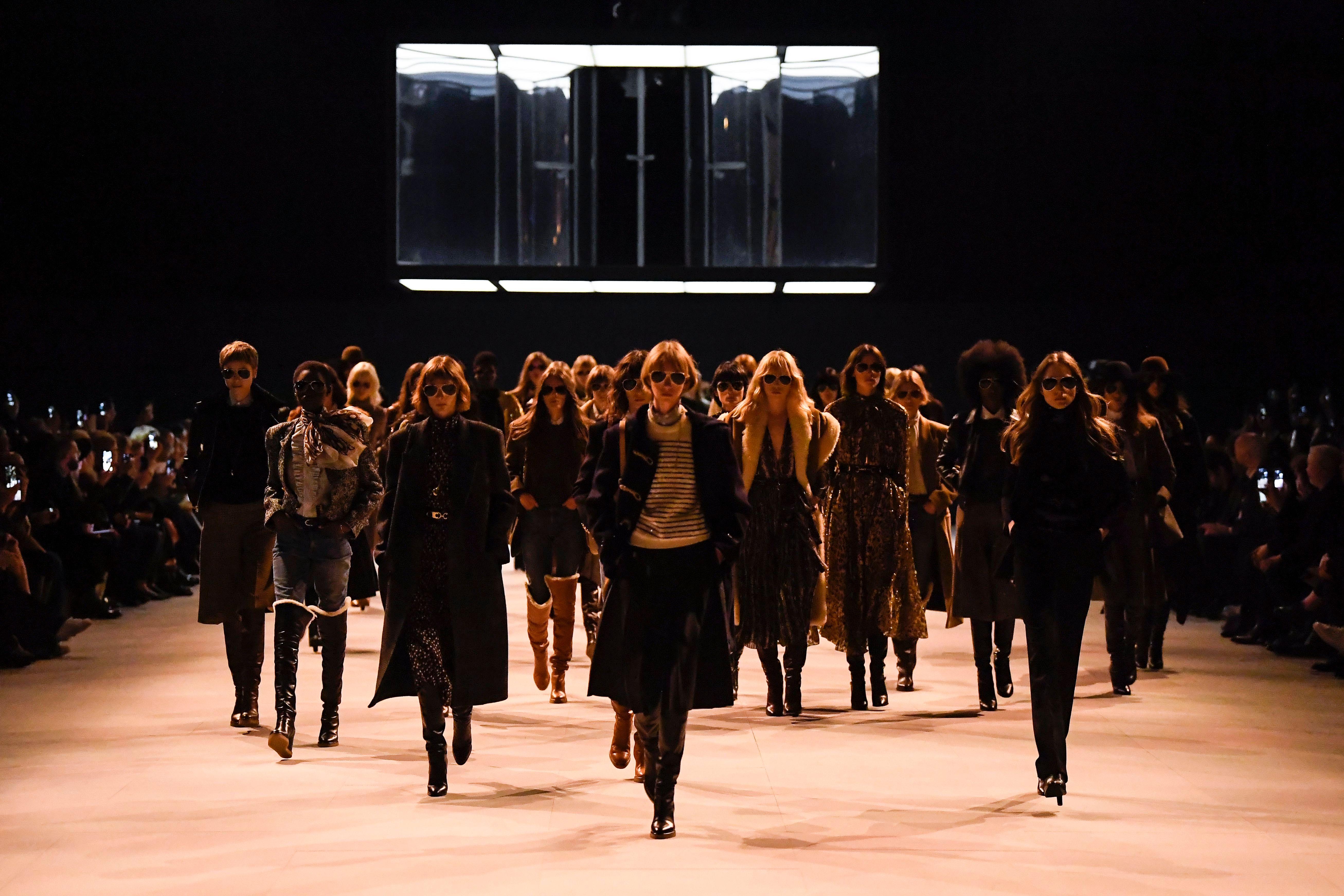 Models on the catwalkCeline show, Runway, Fall Winter 2019, Paris Fashion Week, France - 01 Mar 2019