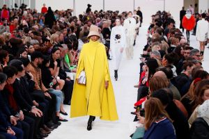 Models wear creations as part of the Valentino ready to wear Fall-Winter 2019-2020 collection, that was presented in ParisFashion 2019 F/W Valentino, Paris, France - 03 Mar 2019