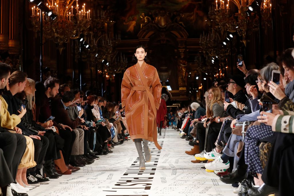 A model wears a creation as part of the Stella McCartney ready to wear Fall-Winter 2019-2020 collection, that was presented in ParisFashion 2019 F/W McCartney, Paris, France - 04 Mar 2019