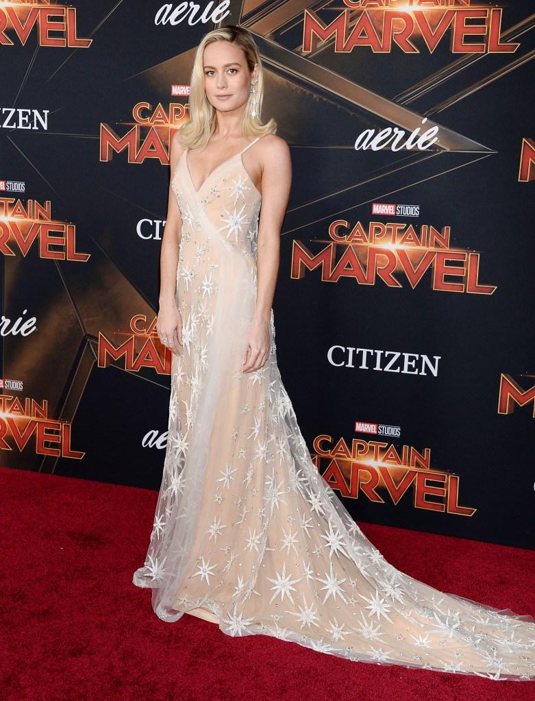 Brie Larson'Captain Marvel' Film Premiere, Arrivals, El Capitan Theatre, Los Angeles, USA - 04 Mar 2019 Wearing Rodarte, Custom