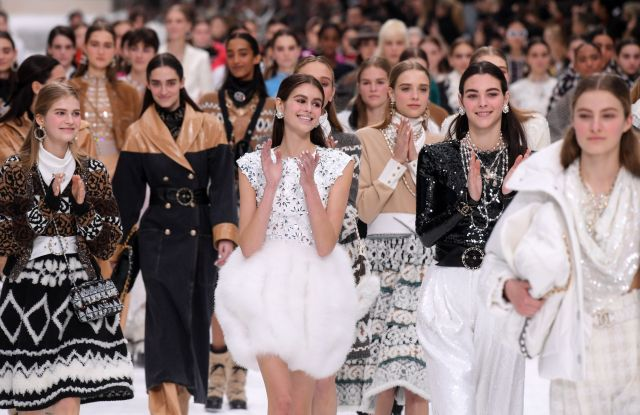 Kaia Gerber and models on the catwalkChanel show, Runway, Fall Winter 2019, Paris Fashion Week, France - 05 Mar 2019