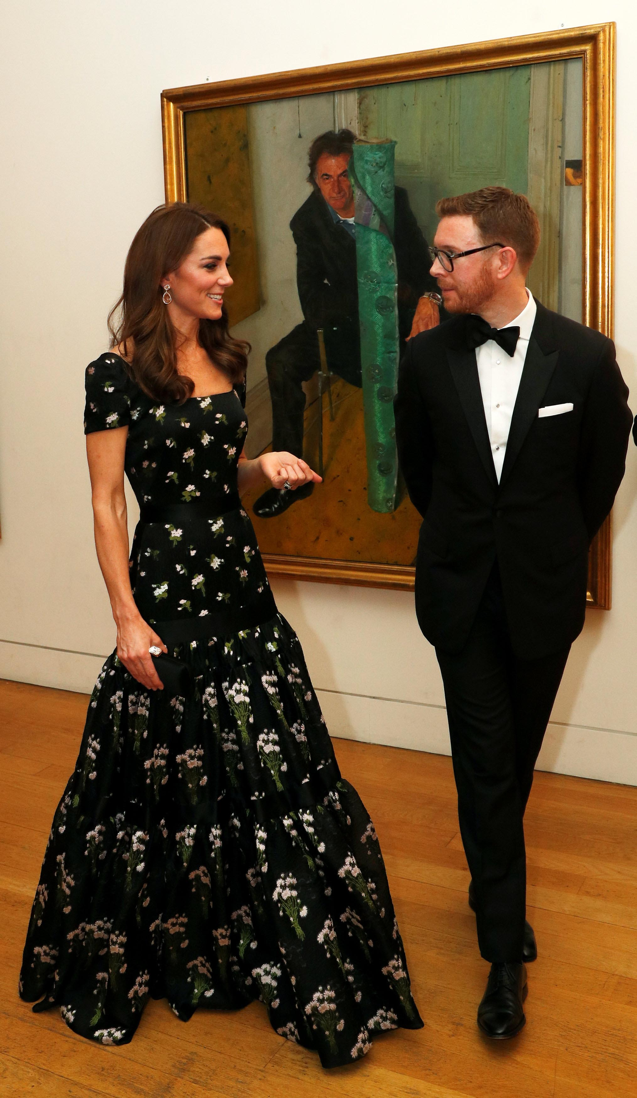 Catherine Duchess of Cambridge with Dr Nicholas Cullinan, Director of National Portrait Gallery