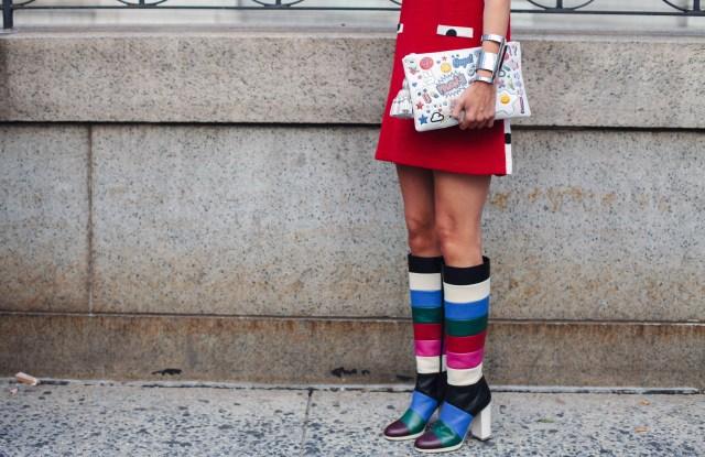 Street StyleStreet Style, Spring Summer 2016, New York Fashion Week, America - 14 Sep 2015