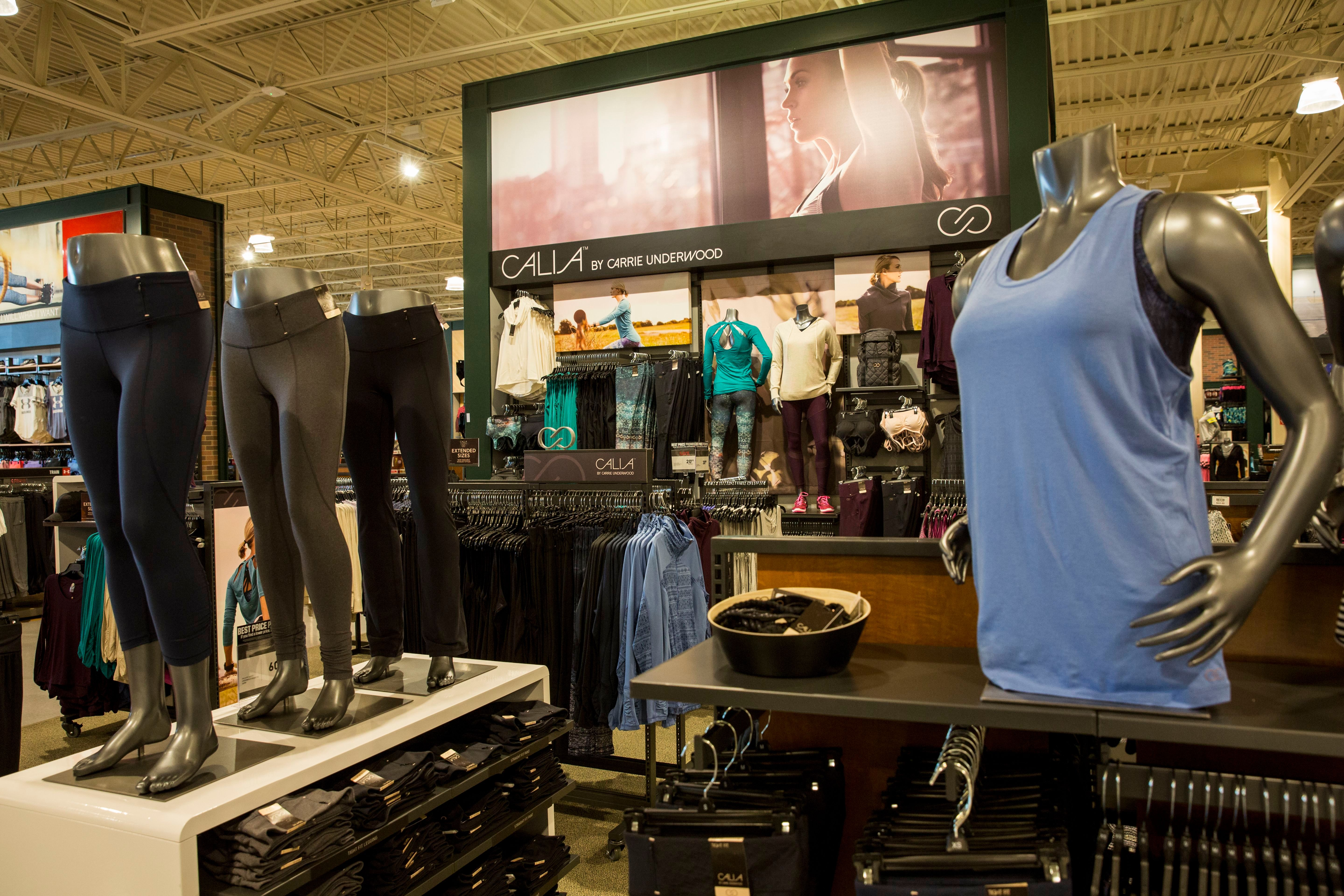 The CALIA by Carrie Underwood shop at the new DICK'S Sporting Goods store at Baybrook Mall in Friendswood, Texas on .? The store is one of six new locations now open for business in the Houston areaDICK'S Sporting Goods Grand Opening Celebration, Houston, USA - 18 Oct 2016