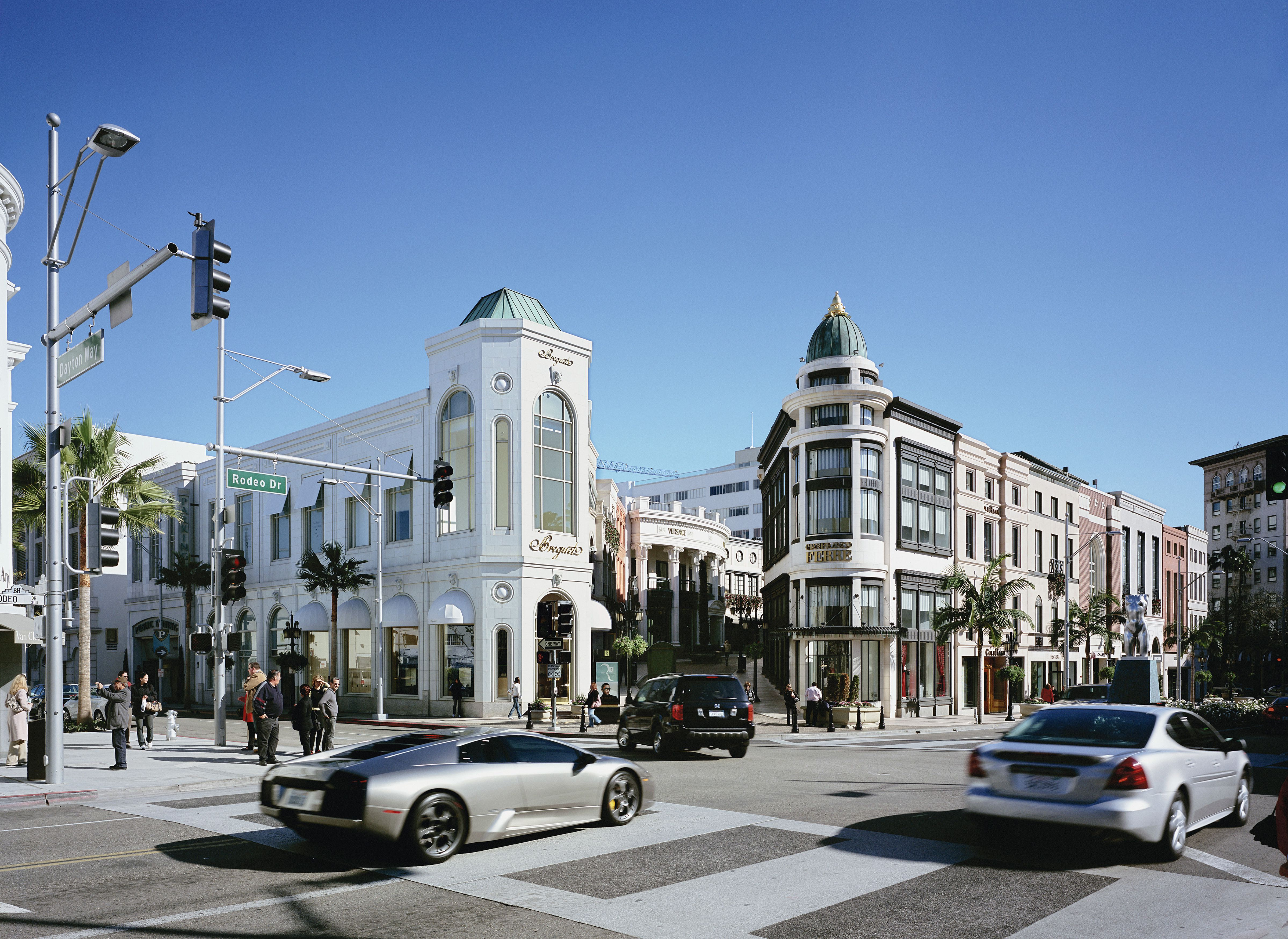 Rodeo Drive Los Angeles California 2008-shopping Centre With Passing Lamborghini Random Commercial Property Portfolio, Na, United States, 2010