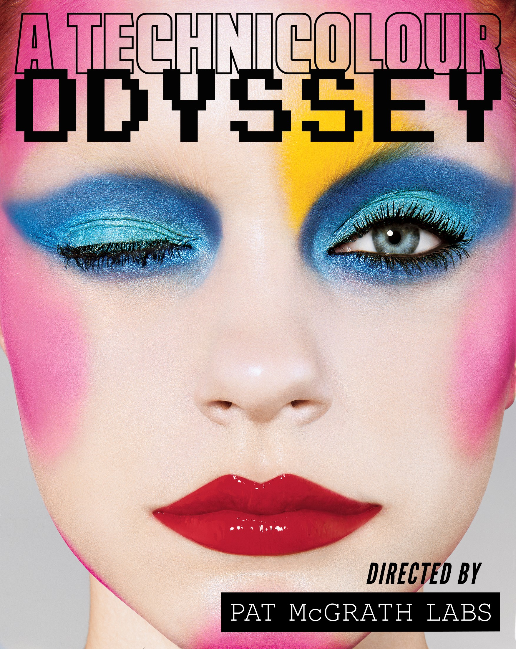 """""""A Technicolour Odyssey,"""" featuring an archival image, shot by Richard Burbridge, of a look Pat McGrath created for i-D Magazine in 2003."""