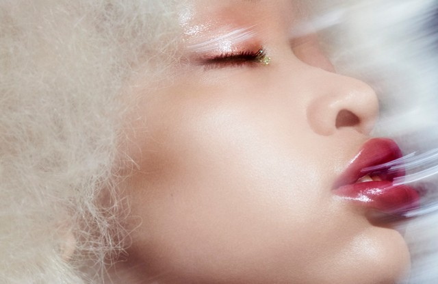 A campaign image from Glossier Play, Glossier's makeup brand.