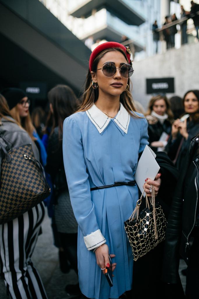Street style at Milan Fashion Week fall 2019