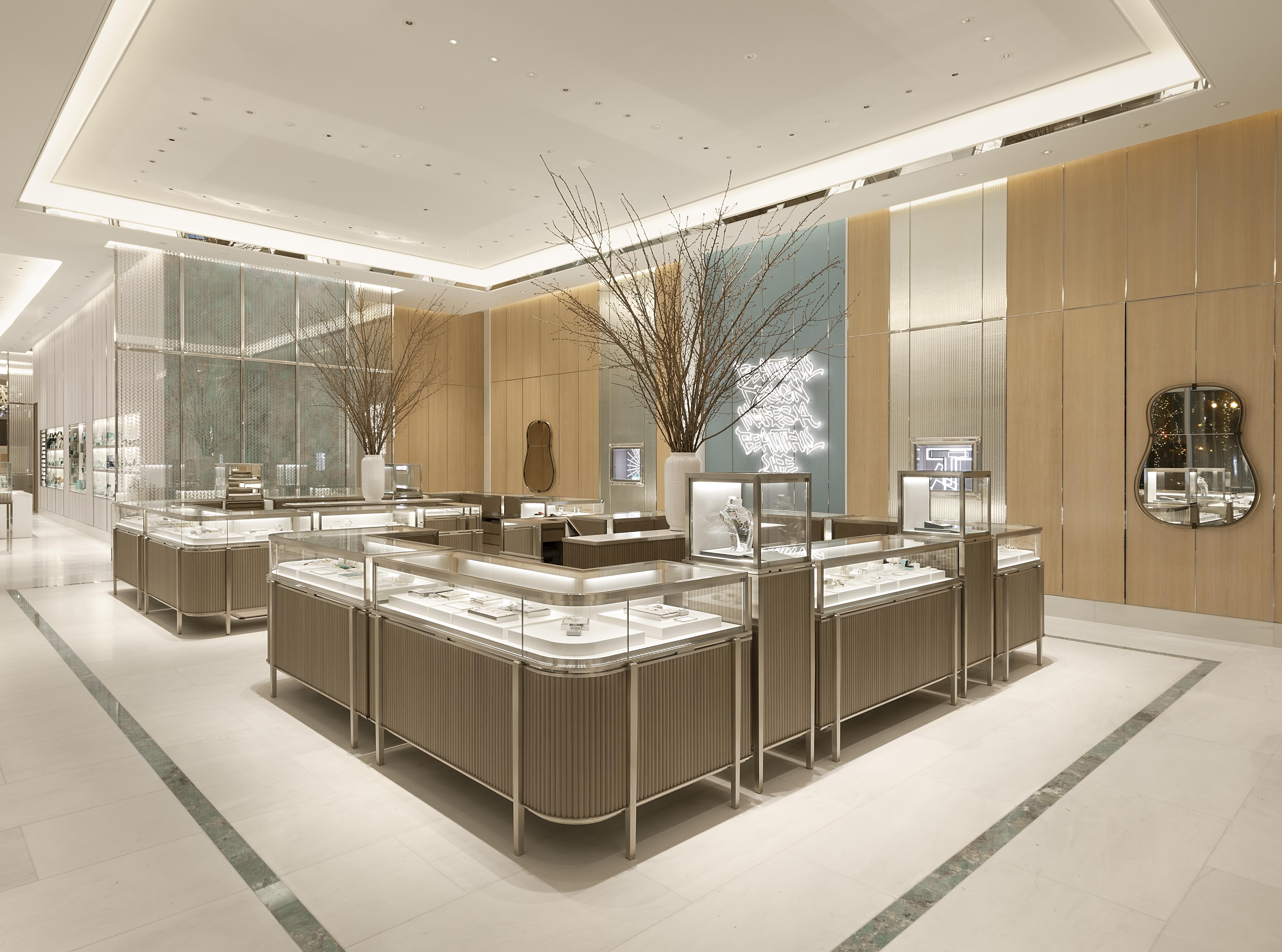 The interior of Tiffany & Co.'s Washington D.C. store.