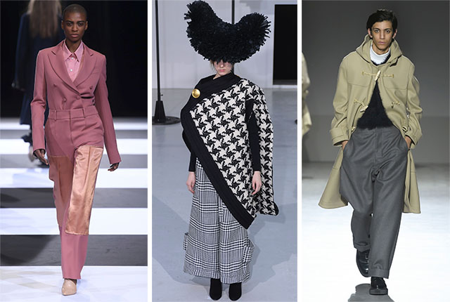 Looks from Cinoh, Anrealage, and The Reracs