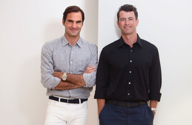 Roger Federer and Adam Scott