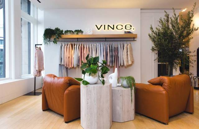 The Vince shop-in-shop in Selfridges