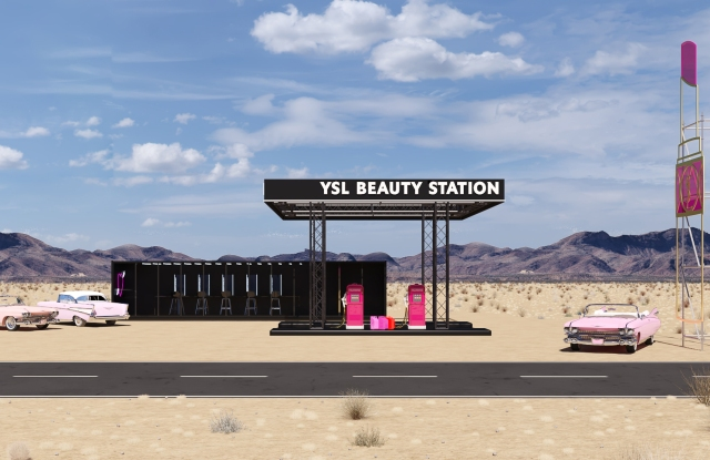 A look at YSL Beauty's forthcoming Coachella pop-up.