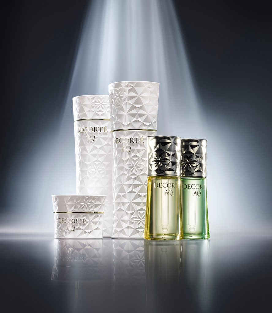 Decorté AQ skin care line with packages conceived by Marcel Wanders.