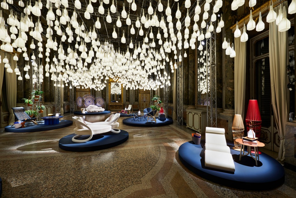 "The Louis Vuitton ""Objets Nomades"" showcase in Milan."