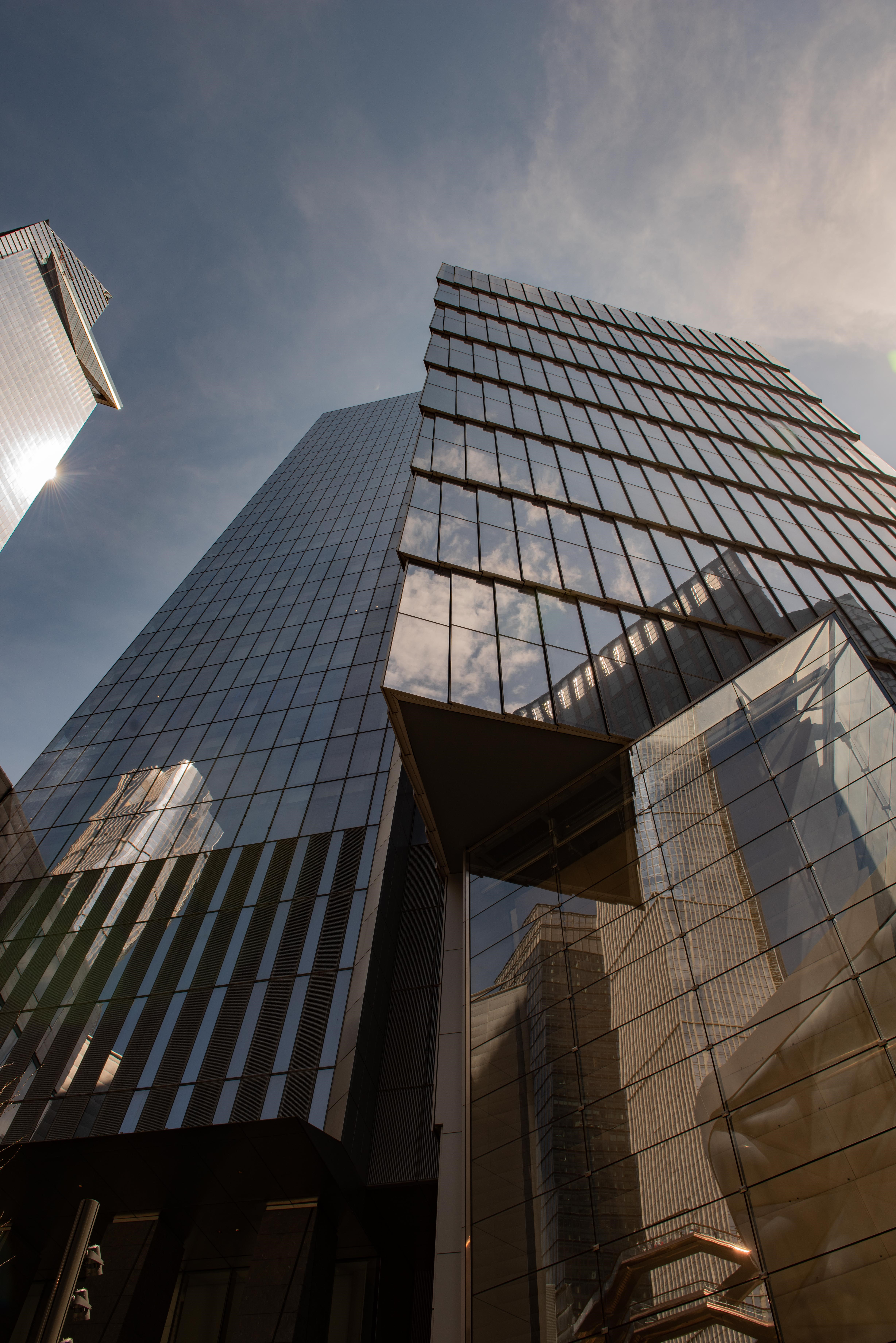 A shot of the Tapestry building at Hudson Yards.