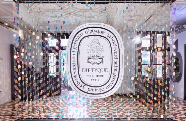 Diptyque's pop up exhibition in Shanghai, China.